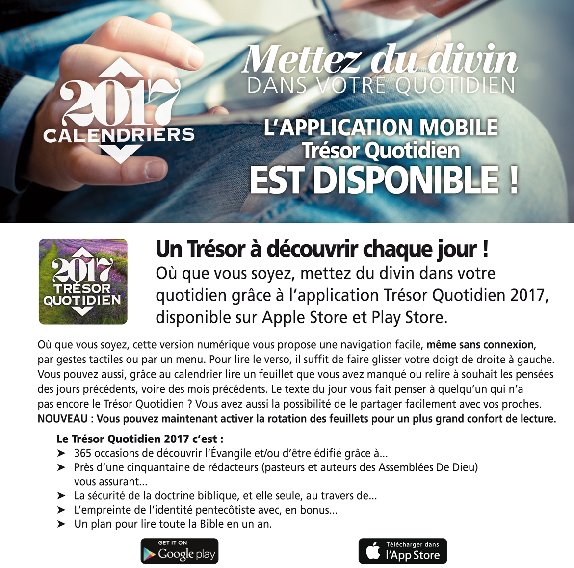 Application Trésor Quotidien