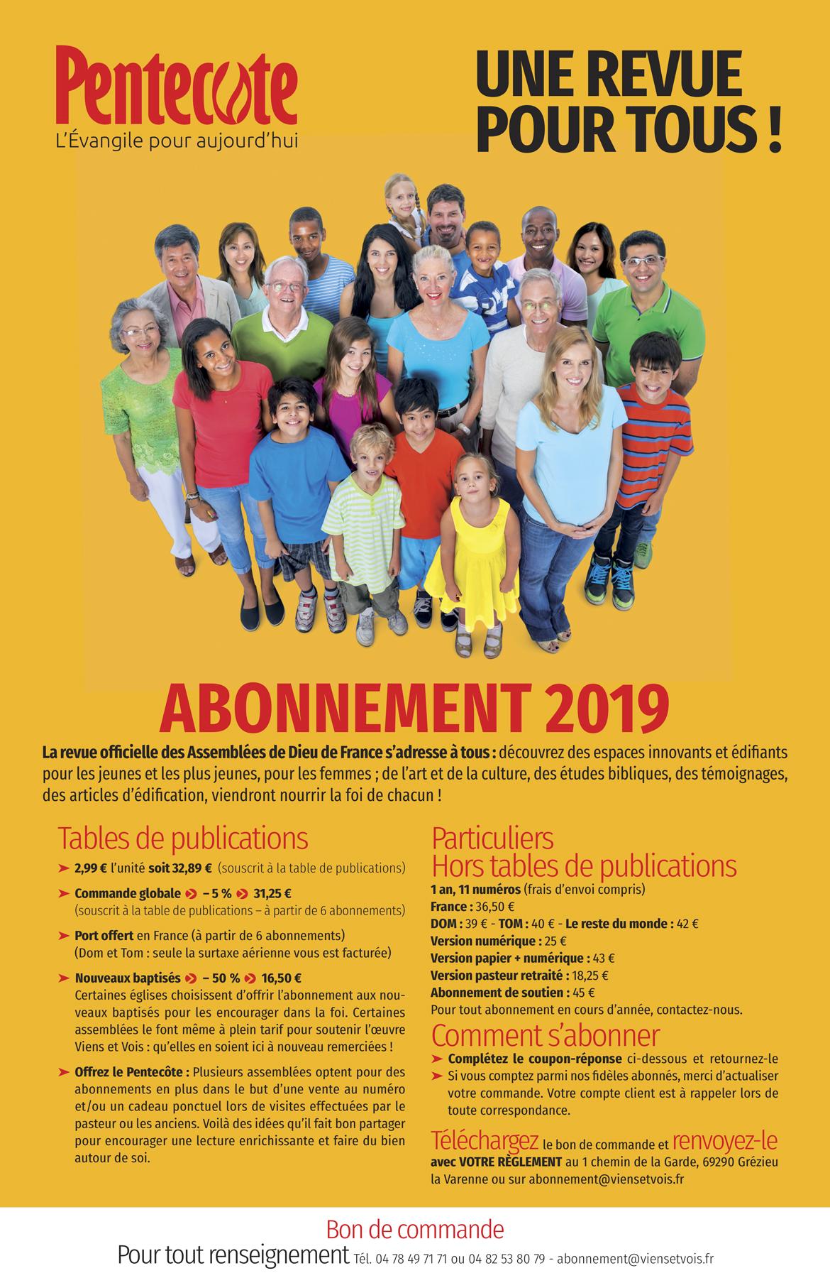 Abonnement 2019
